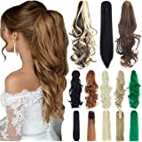 """18"""" 21"""" Straight Curly Synthetic Clip in Claw Ponytail Hair Extension Synthetic Hairpiece 150g with a jaw/Claw Clip"""