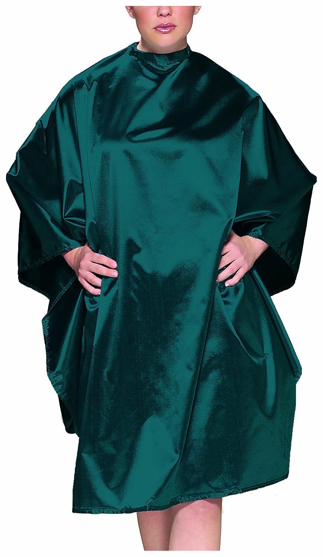Olivia Garden Charm Waschund Frisierumhang mit Doppelhakenverschluss, smaragdgrün smaragdgrün CL-CM1PC-CATEA