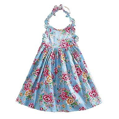 af07d2e454 JUXINSU Summer Kids Princess Sleeveless Dresses for Girls Beach Dress  Cotton Children Clothes 1-7