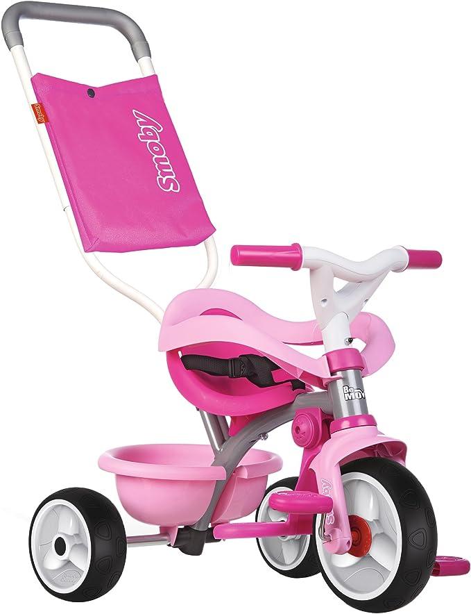 Triciclo Be move Confort rosa con volquete y ruedas silenciosas ...