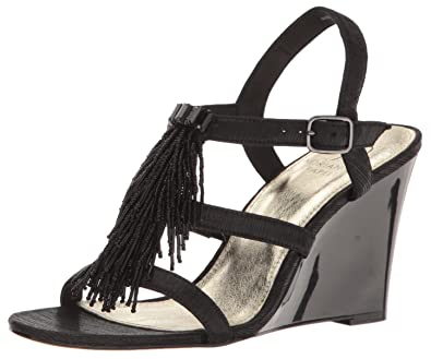275354286b6e Adrianna Papell Women s Adair Wedge Sandal Black 7 ...