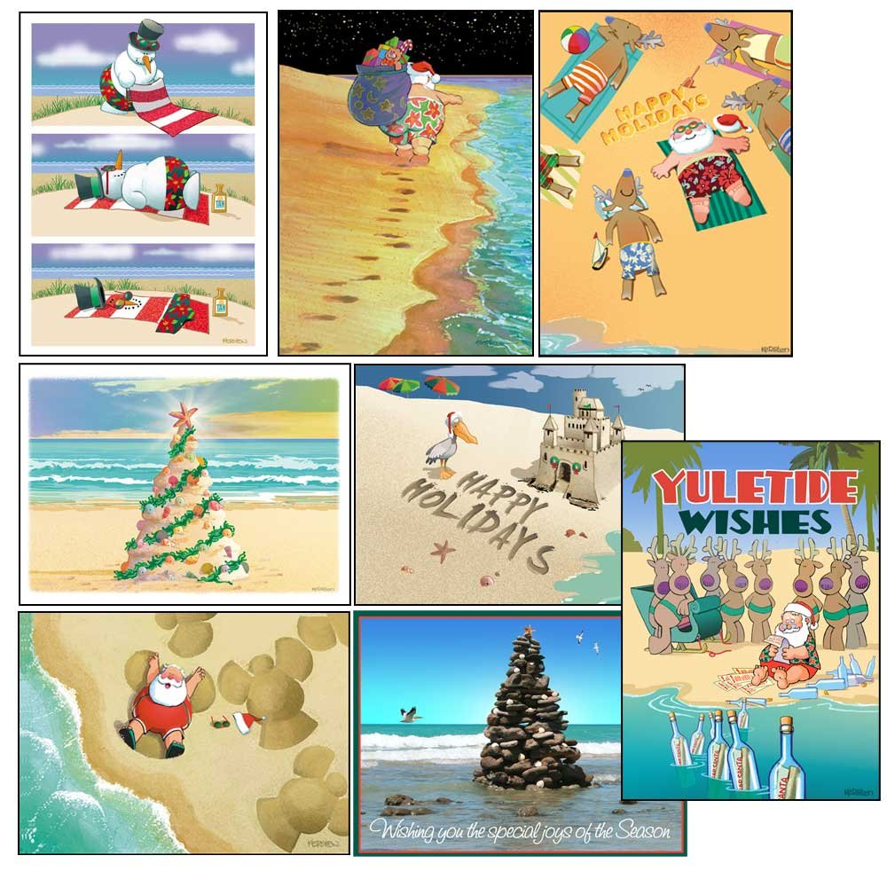 Amazon.com: Surfing Christmas Card Variety Pack - 24 cards ...