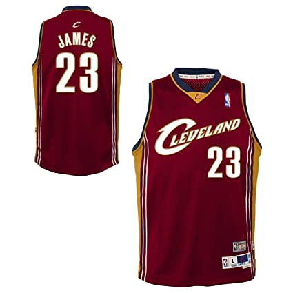 155b26e4e10 Genuine Stuff LeBron James Cleveland Cavaliers Youth NBA Soul Swingman  Jersey - Maroon