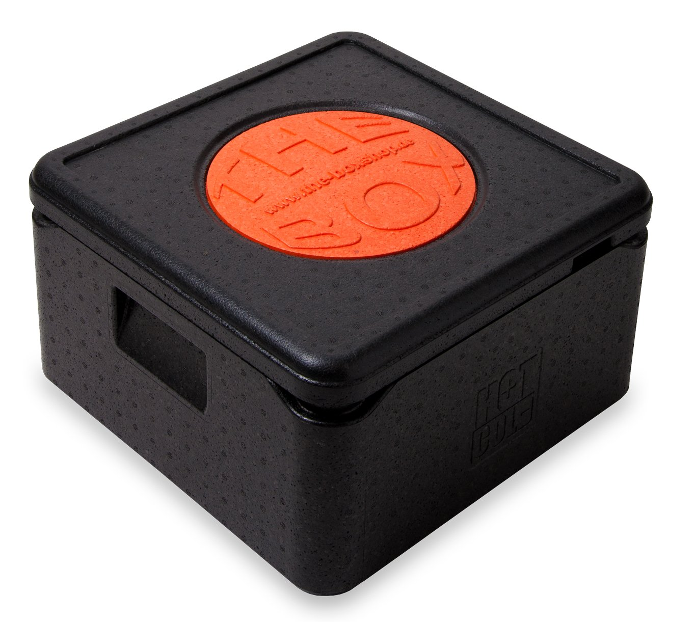 *6er Paket* - THE BOX Thermobox Pizza mittel 79771; schwarz, Außenmaß 41 x 41 x 24 cm, Innenmaß 35 x 35 x 17,5 cm, Nutzhöhe 17,5 cm, 21 l.