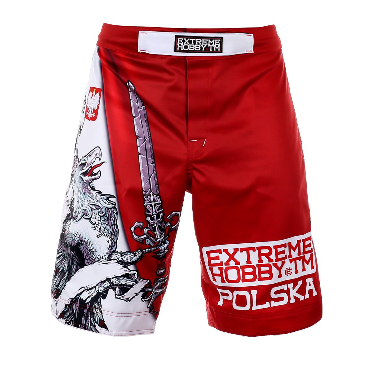 Extreme Hobby Weiß Eagle Poland Grappling Kampfsport Shorts Durability & Rivalry. MMA Fightwear. Training. Kampfsport