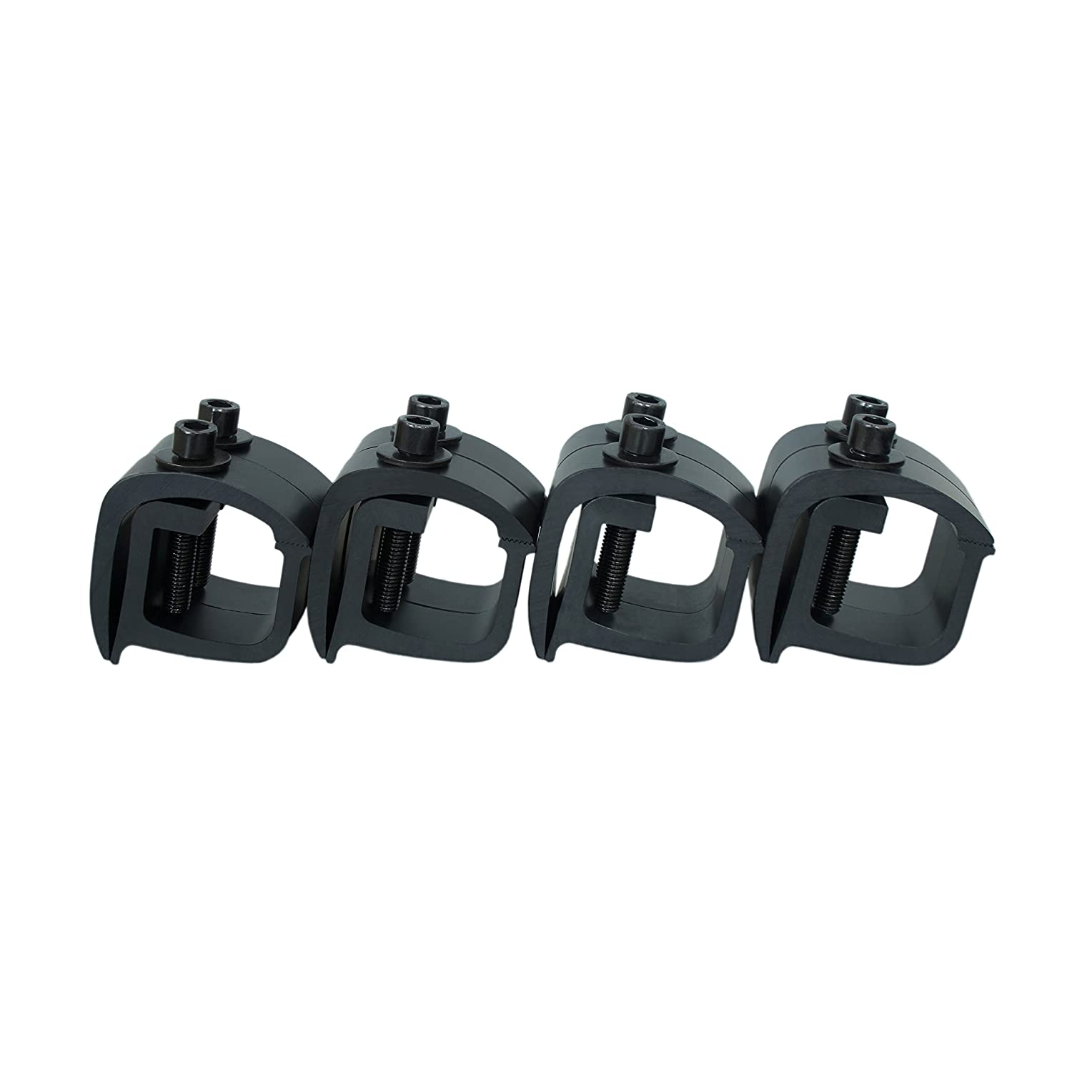 AA Products Inc. AA-Racks Set of 8 Aluminum C-clamps For Non-Drilling Truck Rack & Camper Shell Installation-Black