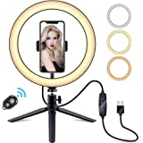 "10.2"" LED Ring Light, ANDSTON Selfie Ring Light with Tripod Stand & Phone Holder, 10 Brightness Level & 3 Light Modes for You"