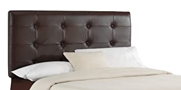 skyline furniture southport king tufted leather headboard brown