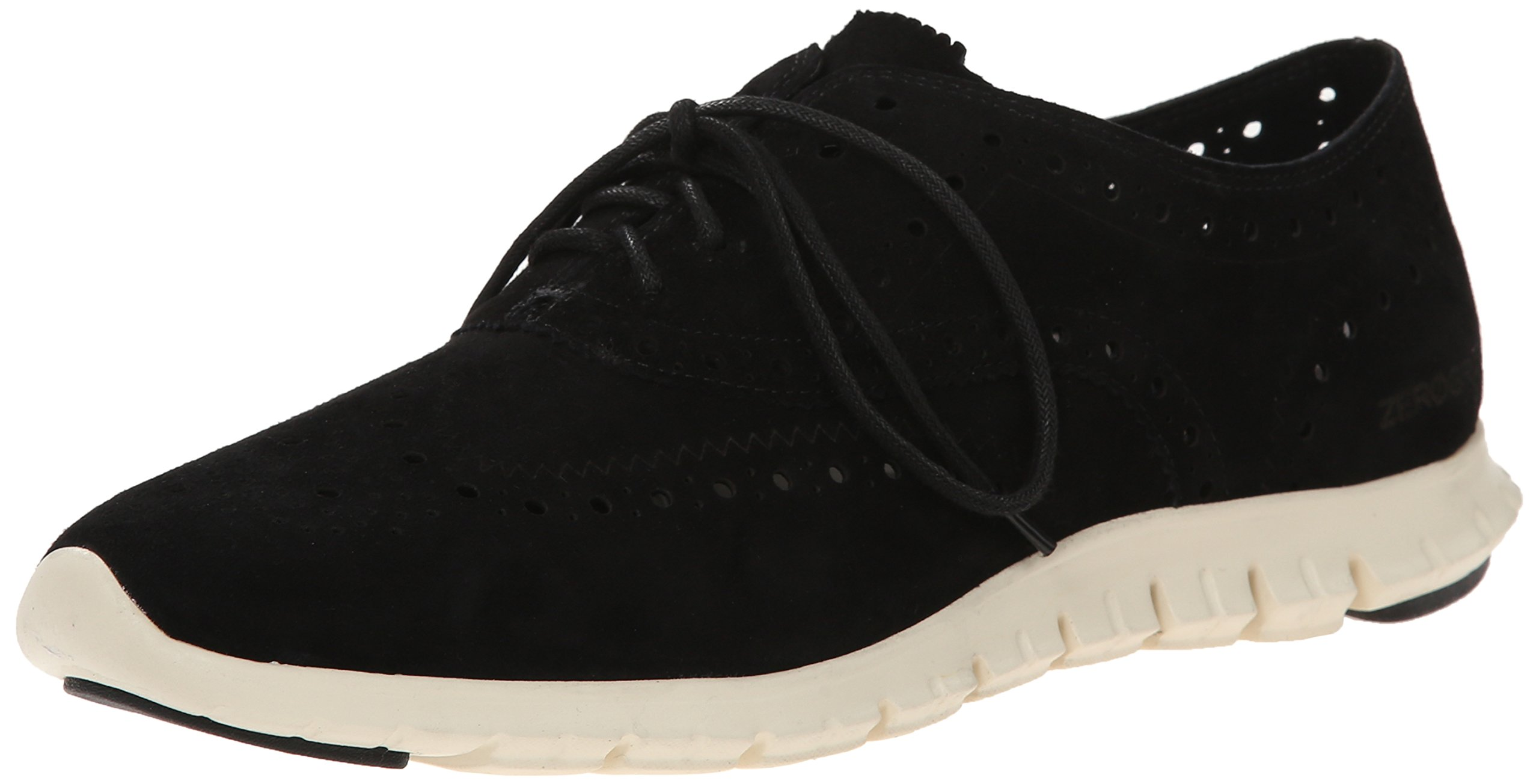 Cole Haan Women's Zerogrand Wing Ox Oxford, Black Suede, 6 B US