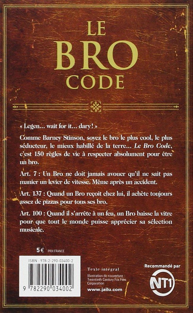 barney stinson bro code francais pdf