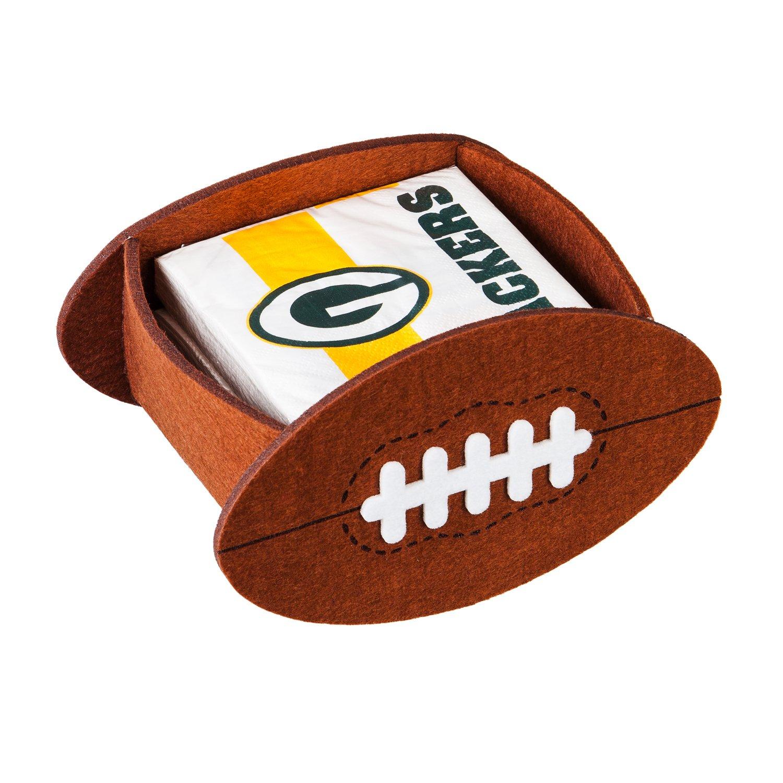 Team Sports America NFL 50-count Team Logo Cocktail Napkin with Felt Icon Napkin Holder Gift Set Evergreen Enterprises Inc.