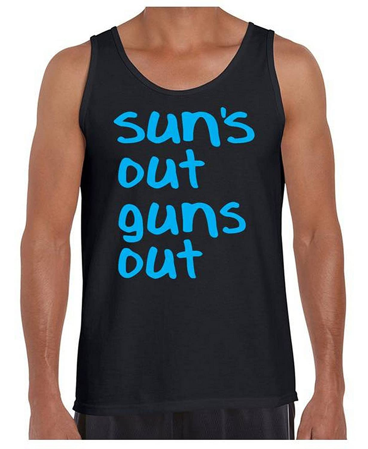 0d759fed306 Amazon.com  Awkwardstyles Suns Out Guns Out Tank Top Funny Gym Shirt +  Bookmark  Clothing