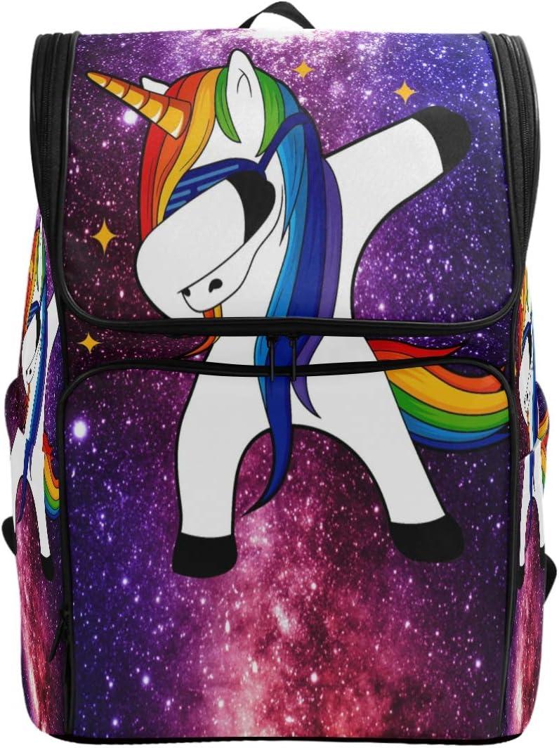 ZZKKO Animal Unicorn Space Galaxy Backpacks College Book Laptop Bag Camping Hiking Travel Daypack