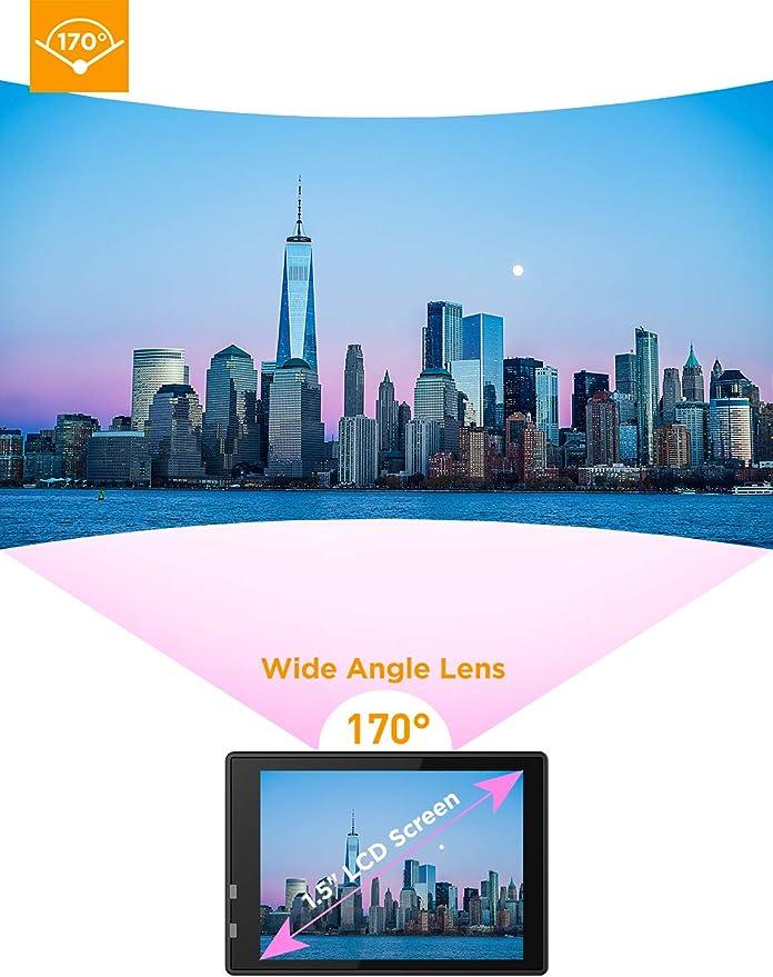 DBPOWER Cámara Action para Deportes DV 1080P Mini 30M / 98ft ...