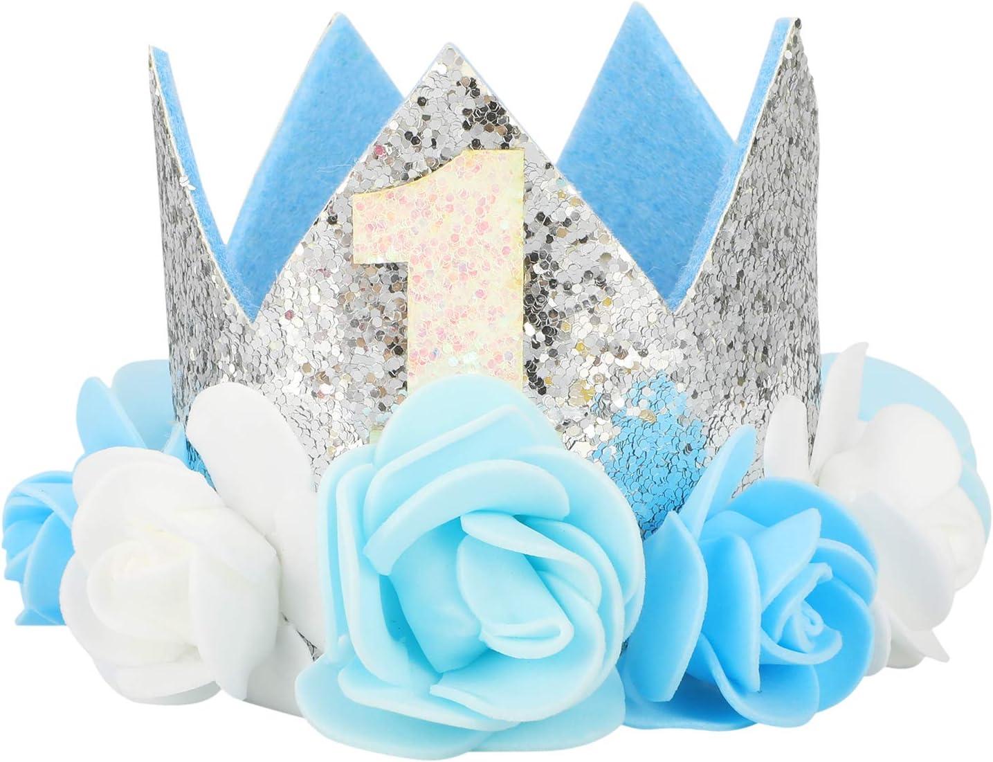 Glitter Baby Mädchen Jungen Pailletten Hut Geburtstagsparty Prop Krone Tiara