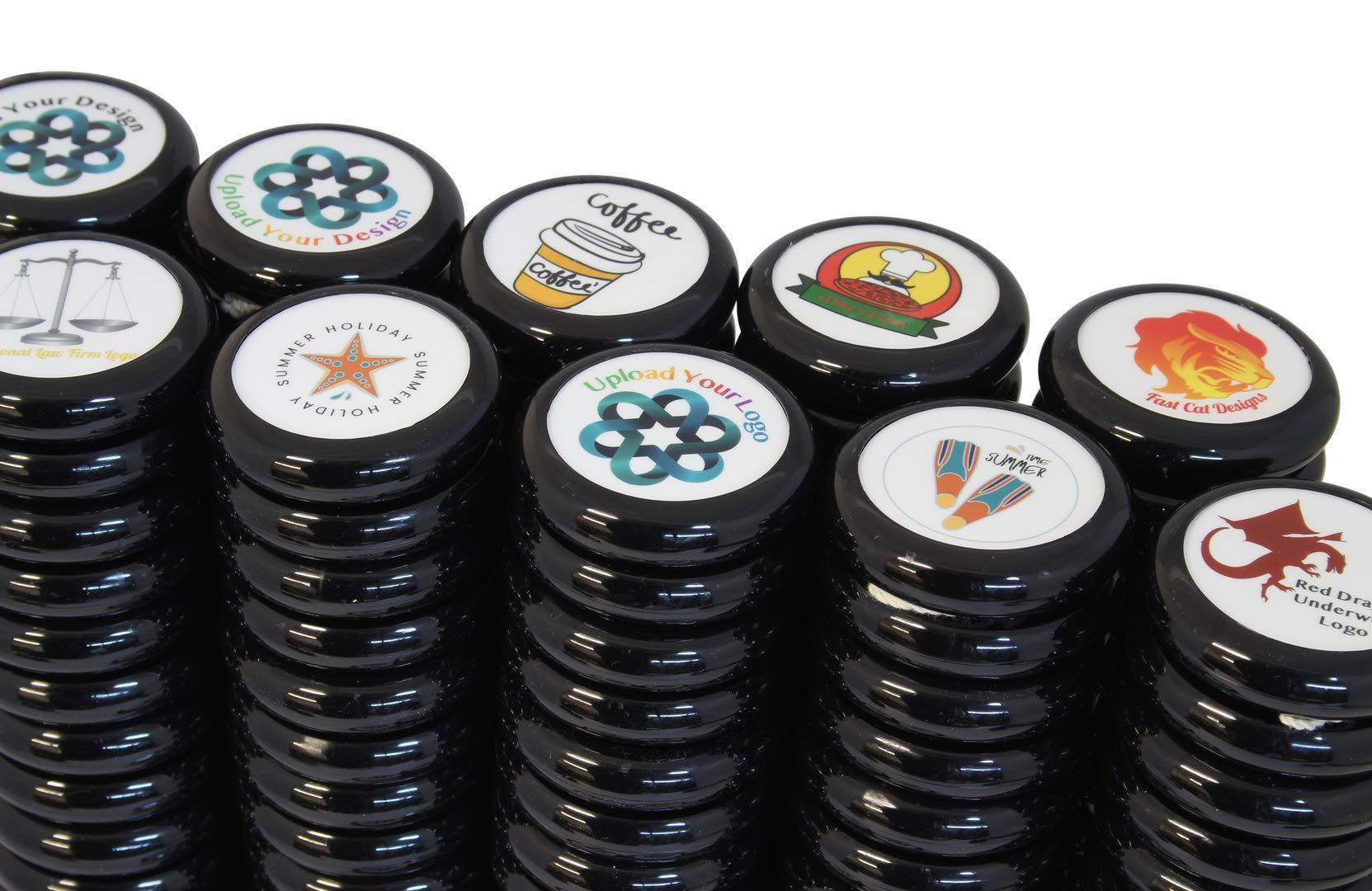 Spintastics 100 Pack Bulk Yoyos Black Professional Wood Axle Yoyo with Your Custom Graphic Design by Spintastics (Image #5)