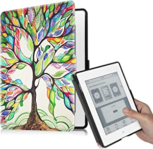 Fintie Case for Nook GlowLight Plus (Previous Gen 6 inch - Barnes & Noble 2015 Model BNRV510) Case, Premium PU Leather Slim Cover, NOT Fit 7.8 Inch 2019 New Version, Love Tree