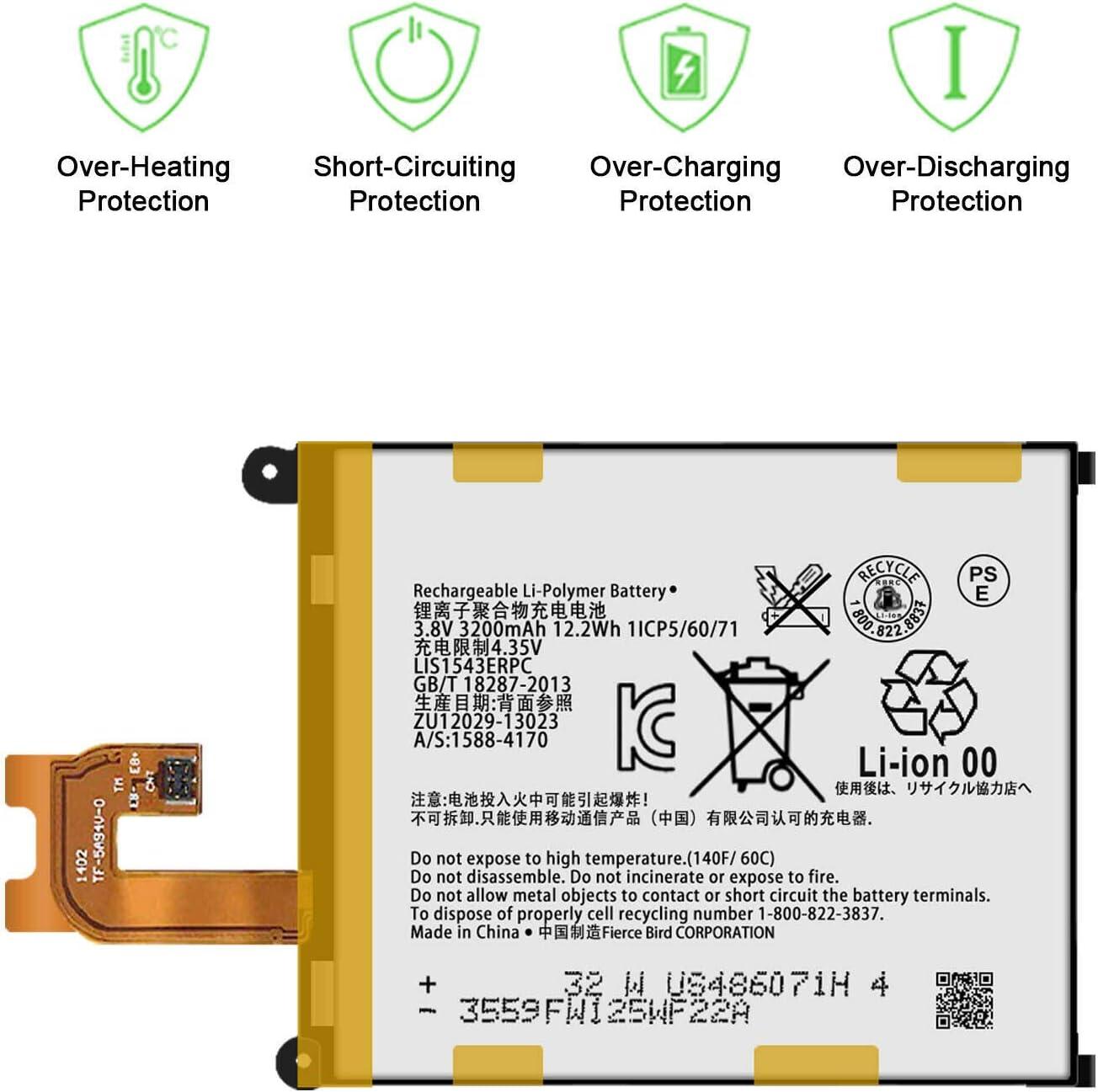 GSParts New 3.8V LIS1543ERPC Battery for Sony Xperia Z3V D6708 Verizon 32GB Smartphone