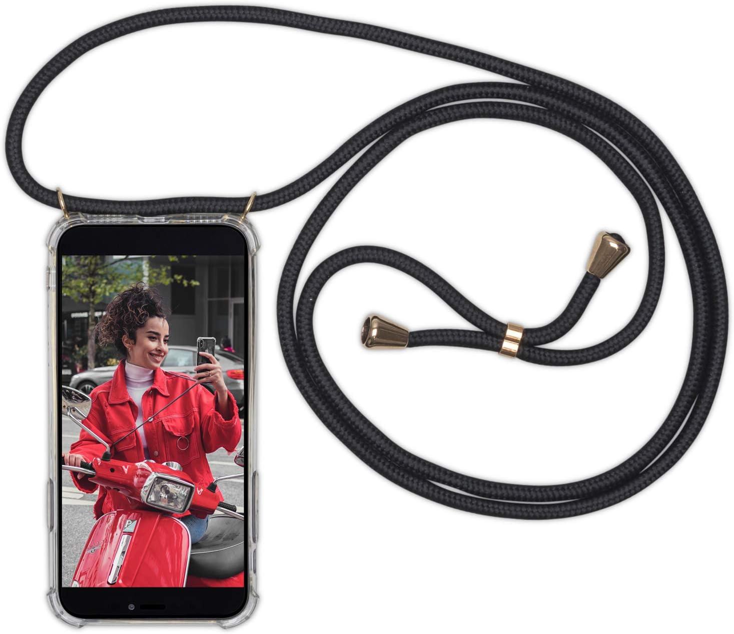 Expatri/é Collier Pochette T/él/éphone Compatible iPhone XR Jaune Lola Coque Smartphone Tour de Cou Lani/ère en Corde Case Necklace Bandouili/ère Styl/ée Housse Silicone Transparente