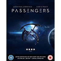 Passengers - (4K UHD + Blu-ray + Digital HD + UV) (2-Disc Limited Edition Box Set + Script + Postcard) (Slipcase Packaging + Region Free + Fully Packaged Import)