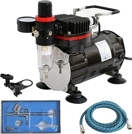 ZENY 1//5HP Multi-purpose Pro Airbrushing Compressor Kit System w// 3 Airbrushe...