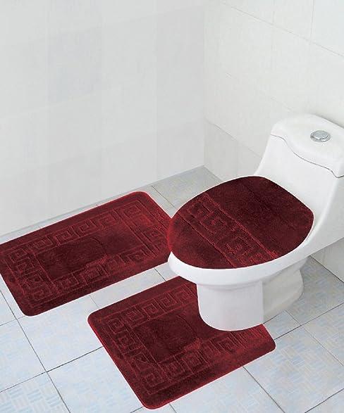 Amazoncom Piece Bath Rug Set Pattern Bathroom Rug X - Royal blue bath mat for bathroom decorating ideas