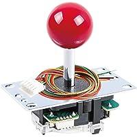 SANWA JLF-TP-8YT-SK OEM Red Ball Top Handle Arcade Joystick 4 & 8 Way Adjustable (Mad Catz SF4 Tournament Joystick…