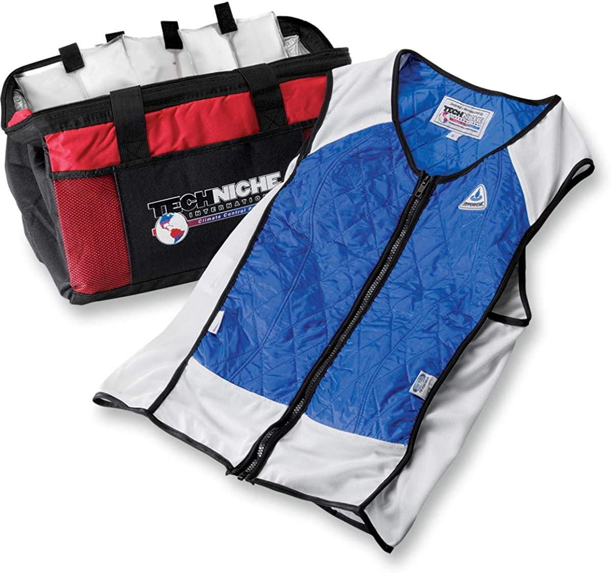 Techniche Hybrid Elite Sport Cooling Vest (Blue, Small)