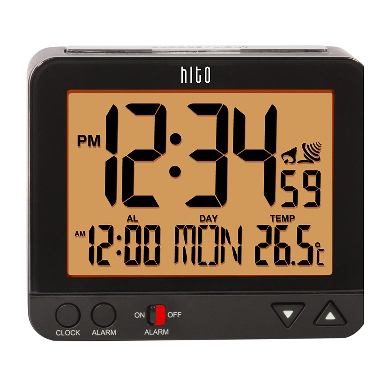 "hito 3.8"" Digital Battery Atomic Alarm Clock"