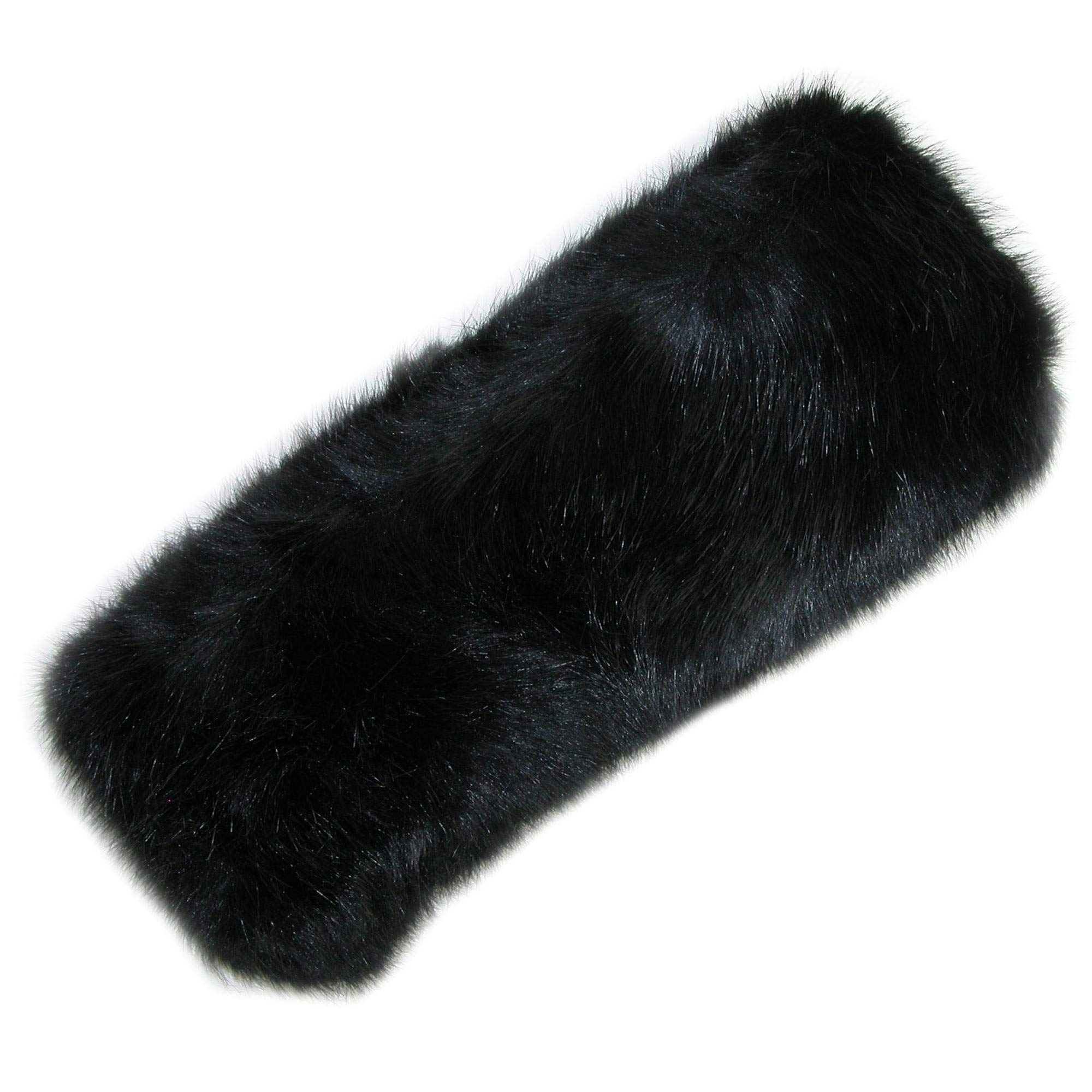 Pia Rossini Women's Faux Fur Headband with Fleece Lining, Black