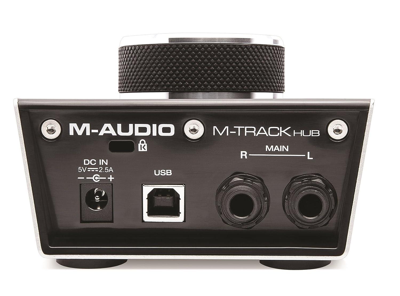 M-Audio M-Track Hub - Interfaz de audio USB con hub de 3 puertos integrado: Amazon.es: Instrumentos musicales