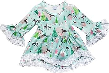 f41ad9ce97b So Sydney Toddler Girls Boho Ruffle Crochet Lace Trim Flare Sleeve Dress