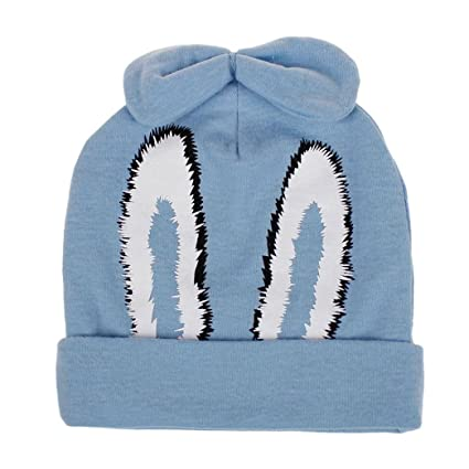 cf44bb14c Amazon.com: Clearance! Baby Hat - Baby Children Warm Winter Cap Cartoon  Rabbit Hats Knitted Wool Hemming (Sky Blue): Musical Instruments