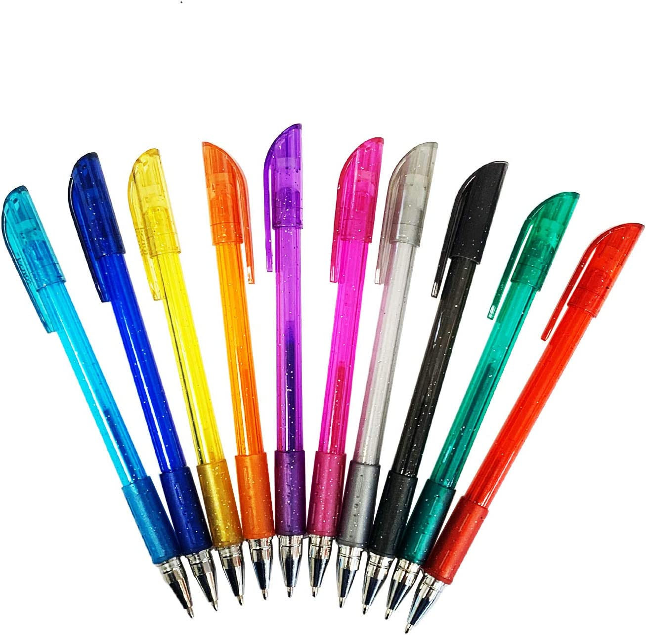 FORCEL Pack 10 bolígrafos Tinta Gel con Purpurina: Amazon.es: Hogar