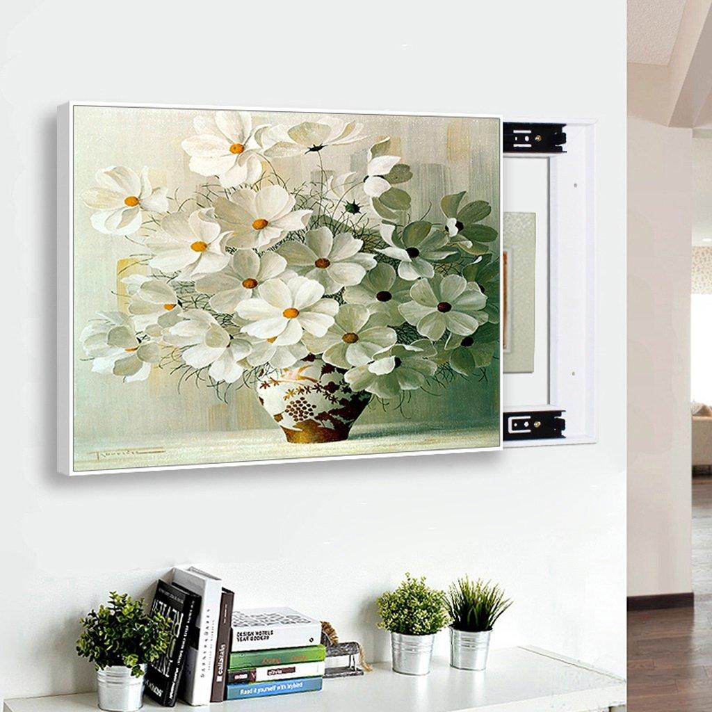 エッジが来る ウォールクロック リビングルームのメーターボックス装飾絵画壁時計、北欧のスライディングクリエイティブペインティングシンプルなボックスペインティング ( サイズ さいず : 50*40cm (in 40*30cm) ) B07BS5N9D3 50*40cm (in 40*30cm) 50*40cm (in 40*30cm)