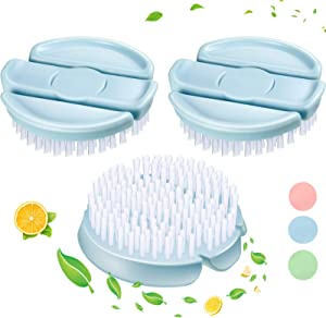 3 Pieces Flexible Fruit and Vegetable Cleaning Brush Veggie Tough Scrubber Nylon Bristle Brush for Washing Carrot Potato Root Scrubber Food Kitchen Cleaning Tools in Random Color, Green, Blue or Pink