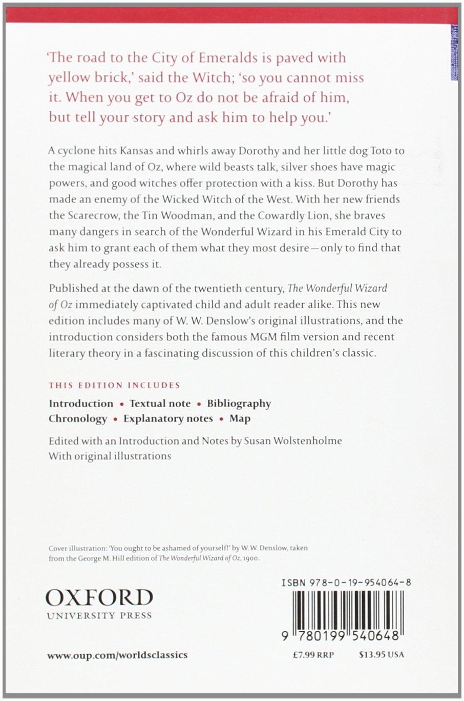 the wonderful wizard of oz oxford world s classics l frank the wonderful wizard of oz oxford world s classics l frank baum susan wolstenholme w w denslow 9780199540648 com books