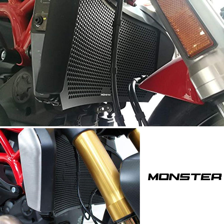 Motorrad Aluminiumlegierung Kühlerabdeckung Kühler Für Ducati Supersport S 2017 Diavel 1260 S 2019 Monster 1200 2017 Monster 821 2013 2020 Monster 1200 2013 2016 Monster 1200 S 2014 2020 Auto