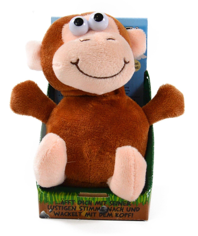 Kögler 75611 - Laber-Affe, der alles nachplappert-Plüsch Winfried Kögler Affen