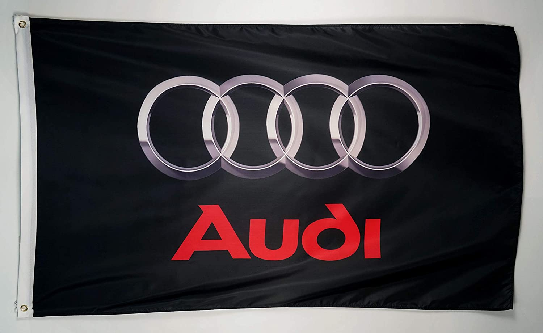 HKS Flag Banner Black/&White 1.5X5ft//2x8ft Advertising Cave Racing Polyester//#46