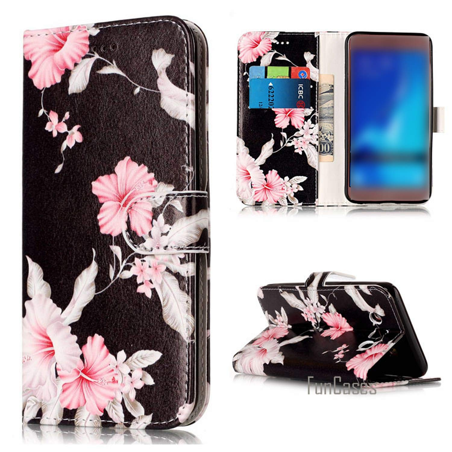 Amazon.com: Phone Case Pu Leather Case for Samsung Galaxy ...