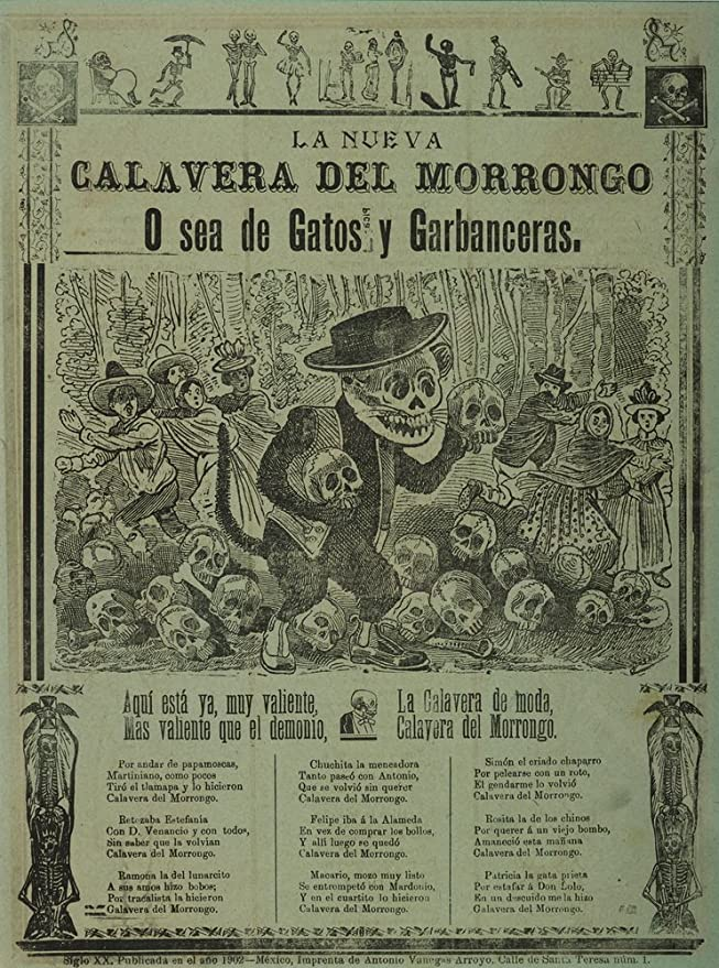 Amazon.com: Berkin Arts Jose Guadalupe Posada Giclee Art Paper Print Art Works Paintings Poster Reproduction(The New Morrongo Calavera): Posters & Prints