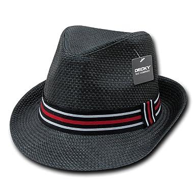 DECKY Inc Paper Straw Fedora Stylish Hats 530 at Amazon Men s ... 03fcbde701a