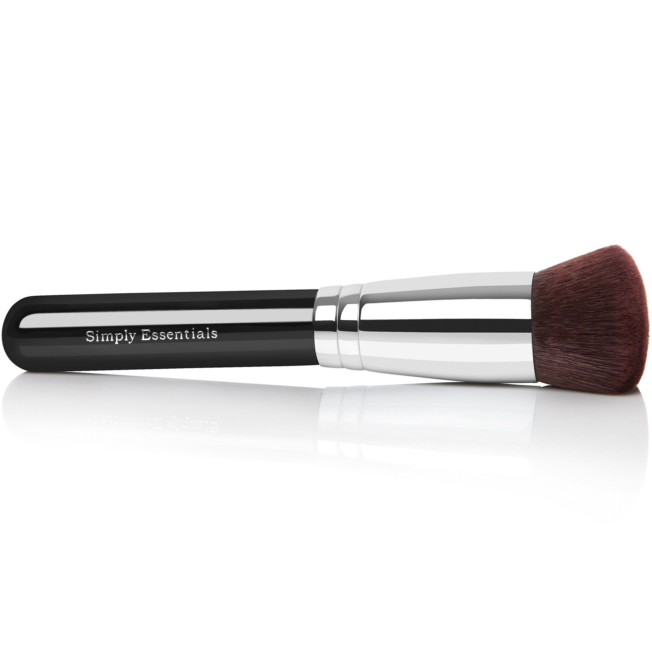 BEST ROUND KABUKI MAKEUP BRUSH for Liquid, Cream Mineral, Powder Foundation & Face Cosmetics - Prime Quality Design - Carrying Case & E-Book Included