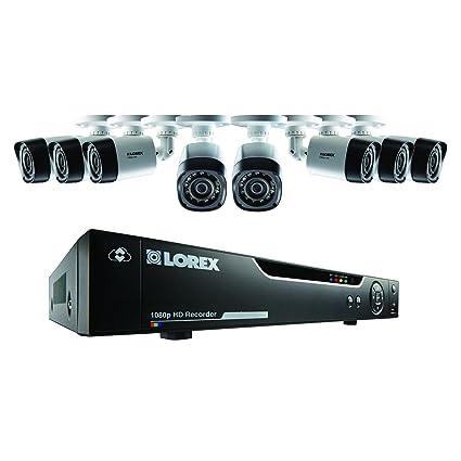 Lorex 1080P HD 8 Canales 2 TB DVR Home Kit de Seguridad CCTV con 8 Cámaras