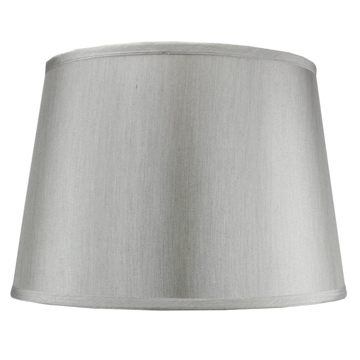 13x16x11 Bavarian Grey Floor Lampshade with Brass Spider fitter By Home Concept - Perfect for table and Desk lamps - Large, Grey