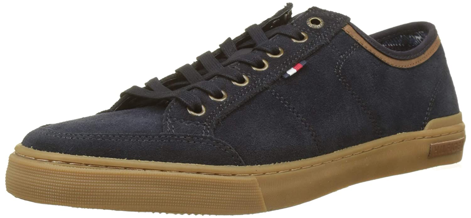 6df0f11e103b5f Tommy Hilfiger Men s Core Suede Lace Up Sneaker Low-Top  Amazon.co.uk   Shoes   Bags