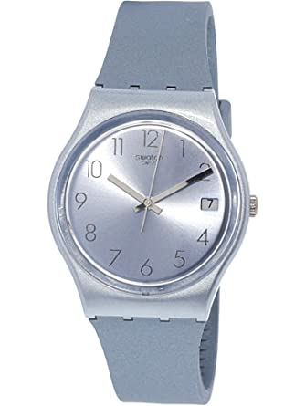 f77347c095db Image Unavailable. Image not available for. Color  Swatch Azulbaya GL401  Blue Silicone Swiss Quartz Fashion Watch