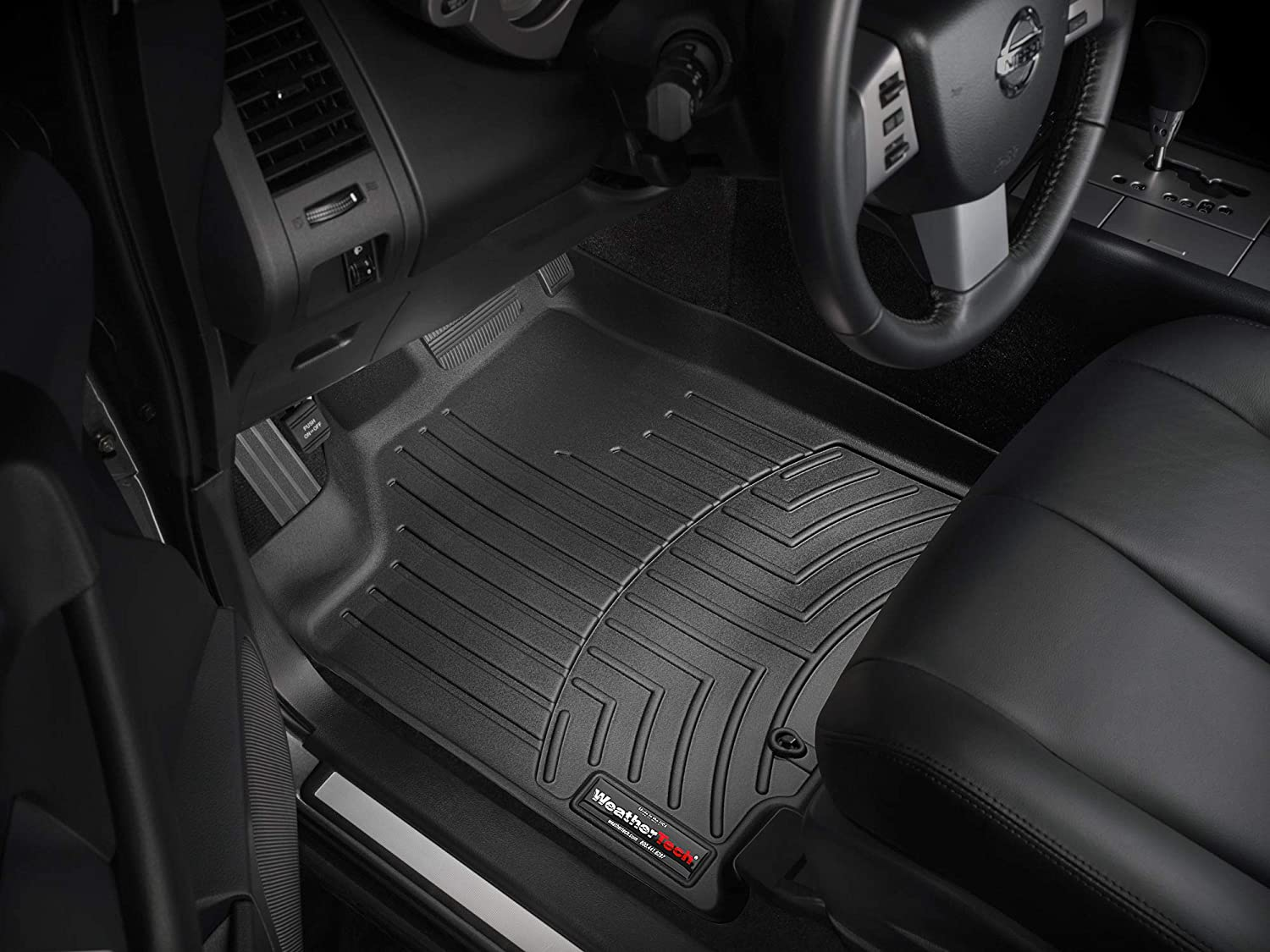 Black WeatherTech  440361  Custom Fit Front FloorLiner for Nissan Murano