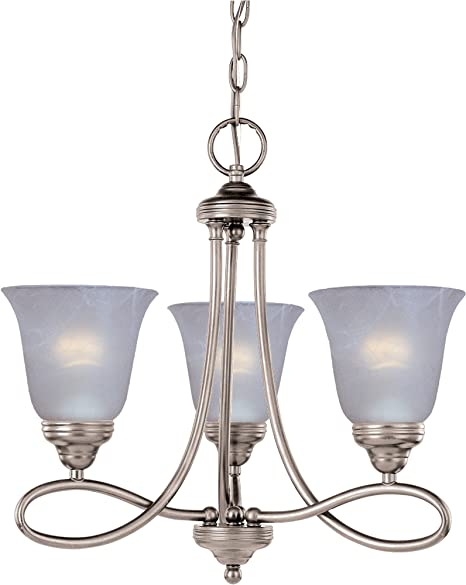 Maxim Lighting 24303CLPN Montgomery 3-Light Chandelier Polished Nickel Finish with Clear Glass Crystals